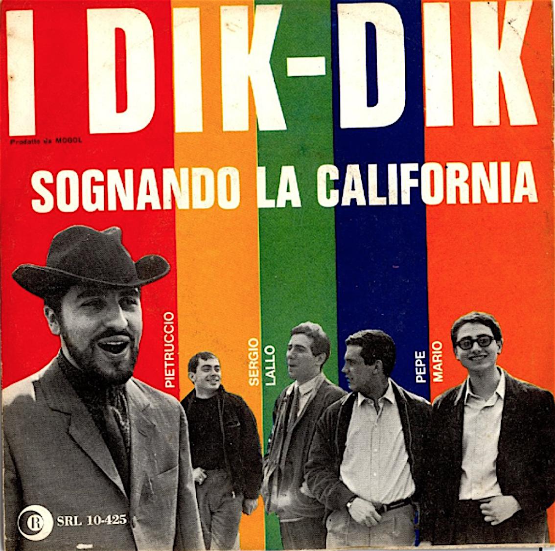 sognando california dik dik copertina