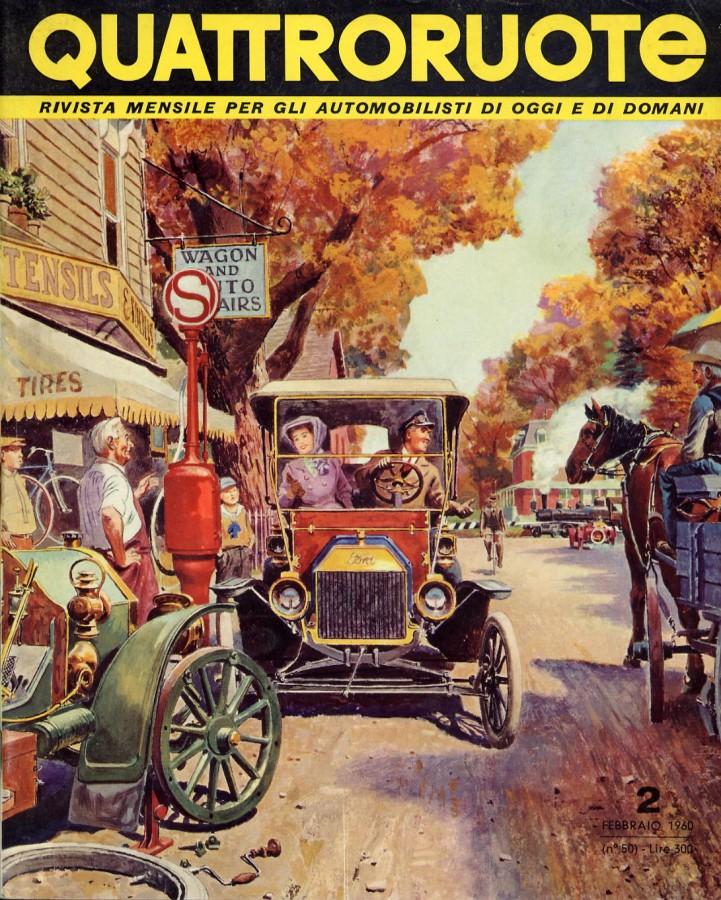quattroruote copertina numero 2 1960