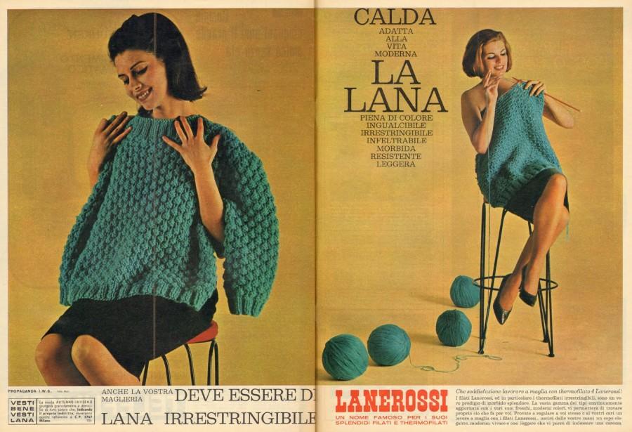 La pubblicità sulle riviste di Lanerossi