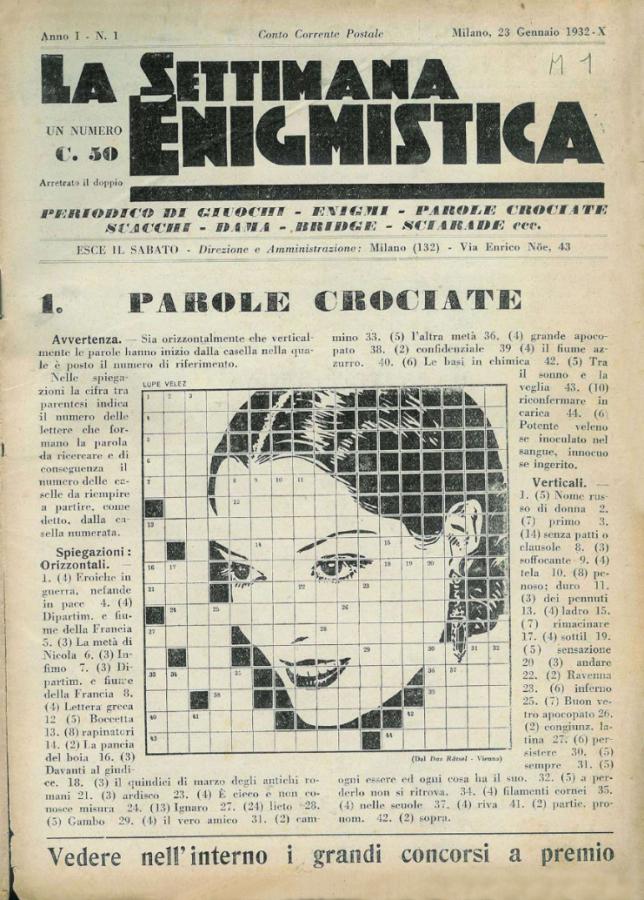 settimana enigmistica numero 1 1932