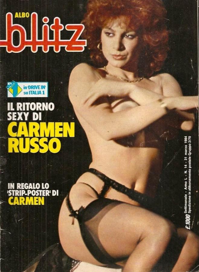 Blitz copertina Carmen Russo 1984