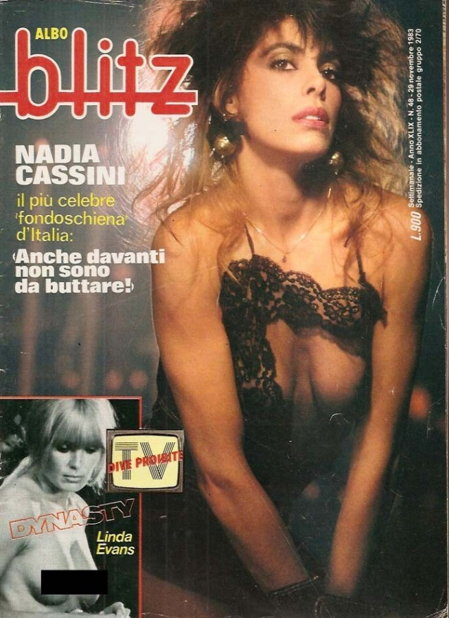 copertina blitz nadia cassini nuda 1983