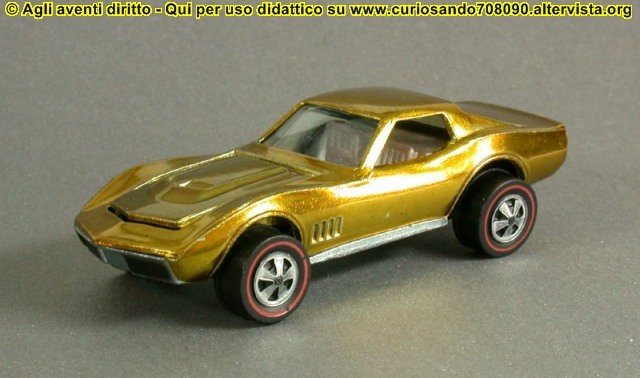 hot wheels us gold corvette 1968