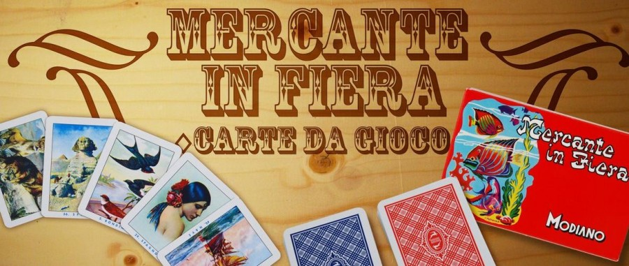 mercante in fiera gioco carte modiano vintage