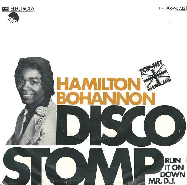 the best di hamilton bohannon disco stomp copertina emi 45 giri disco music