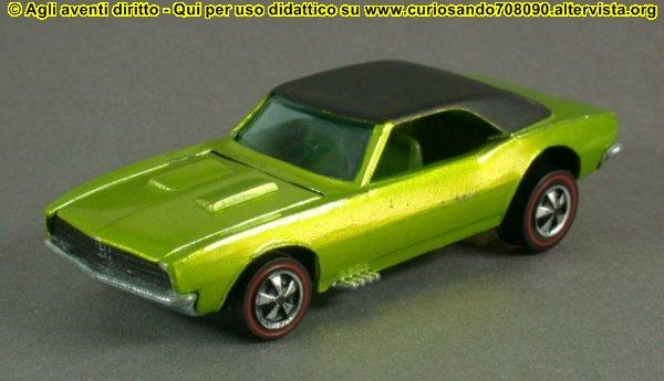 camaro 1968 giocattolo vintage hot wheels