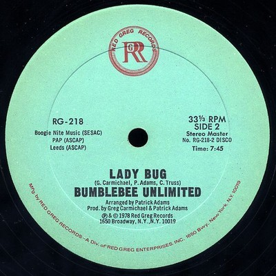 lady bue bumblebee unlimited disco 45 giri