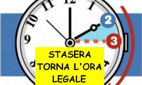 Domenica torna l'ORA SOLARE – (In Italia dal 1916)