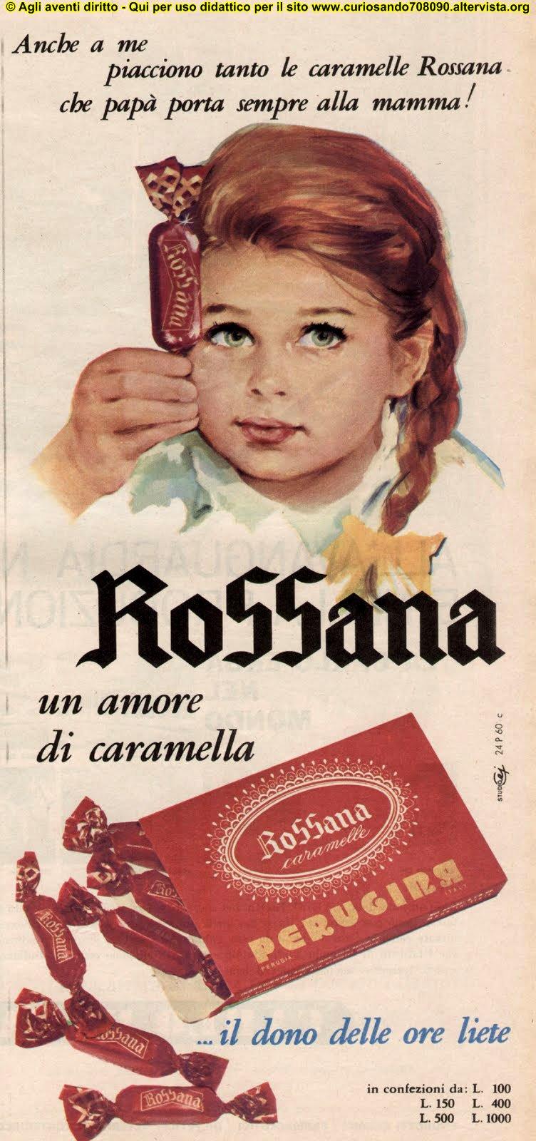 caramelle rossana perugina pubblicità
