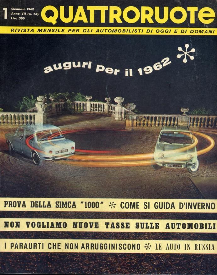 quattroruote 1962 gennaio