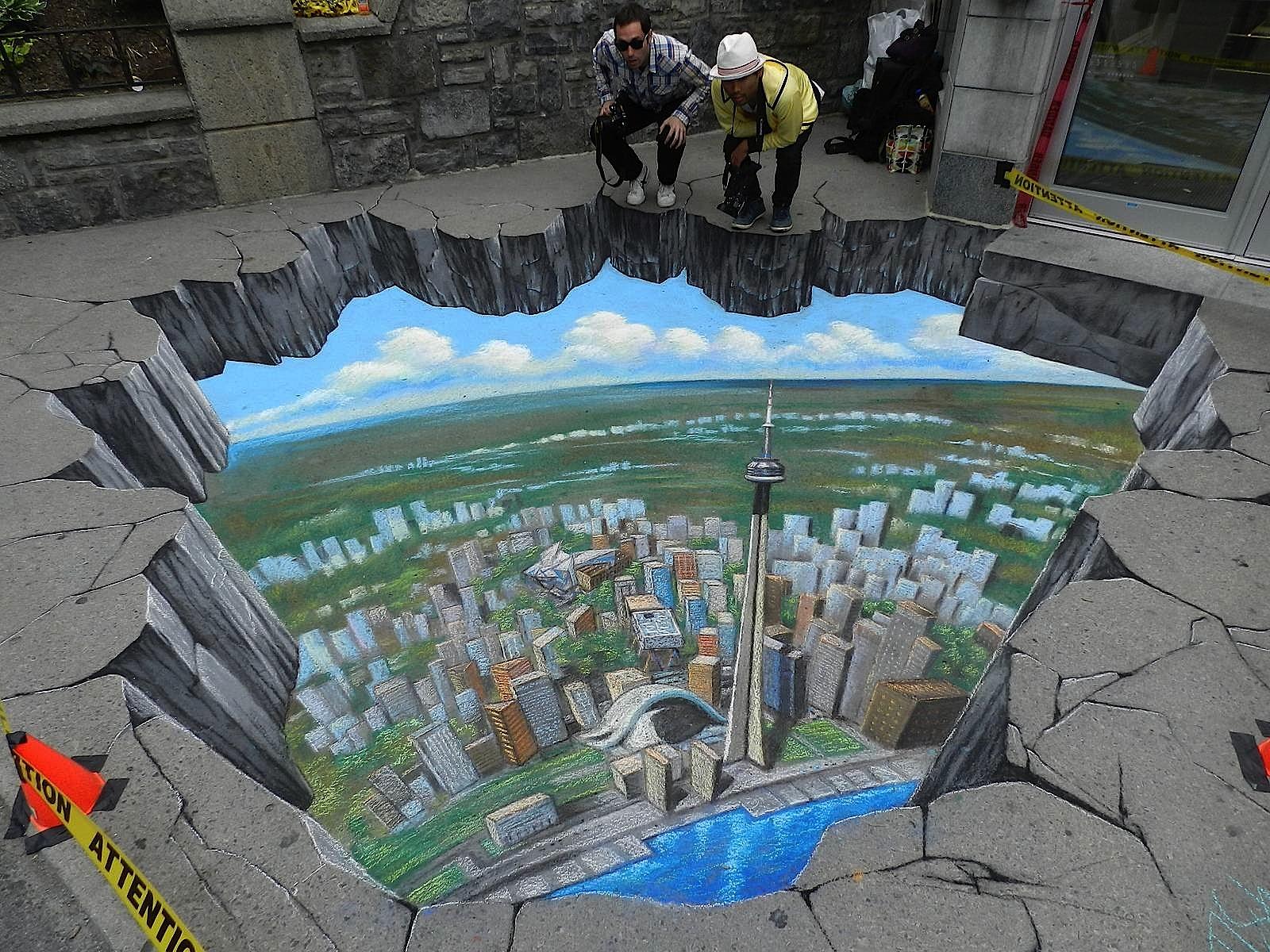 3D street art chalk painting interactive tracy lee stum 8
