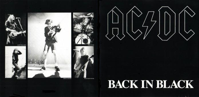 AC-DC - Back in Black copertina disco