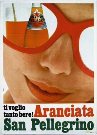 aranciata sanpellegrino pubblicità 1962