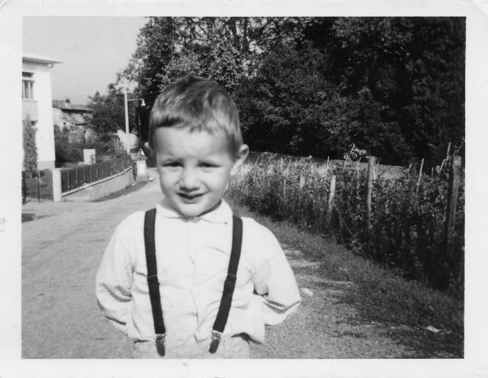 Foto originale d'epoca franco bertelli con vestiti tipici anni 70