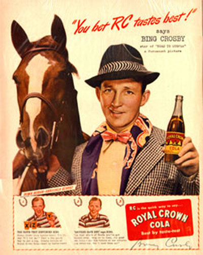 rc cola royal poster pubblicitario anni 50 e anni 60