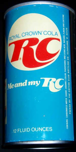 rc cola royal crown cola lattina vintage confezione