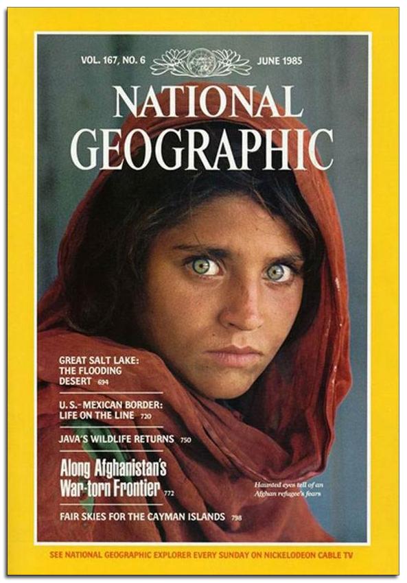 sharbat gula come era national geographic copertina