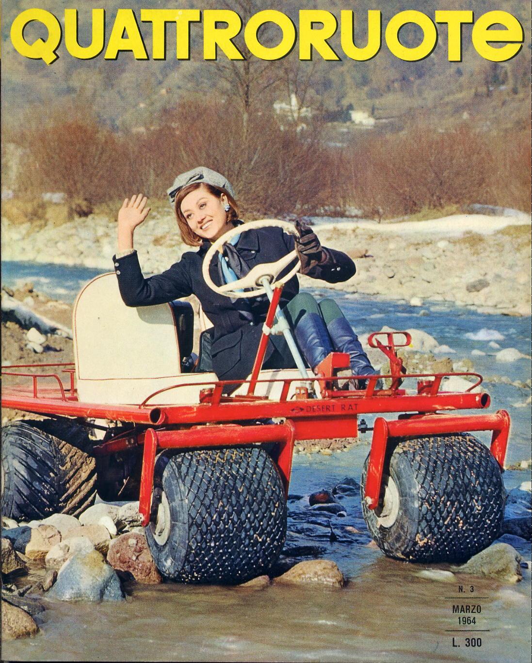 1964 copertina quattroruote numero 99 3 1964