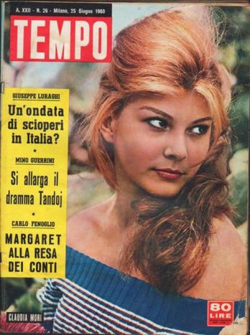 claudia mori copertina tempo del 1960