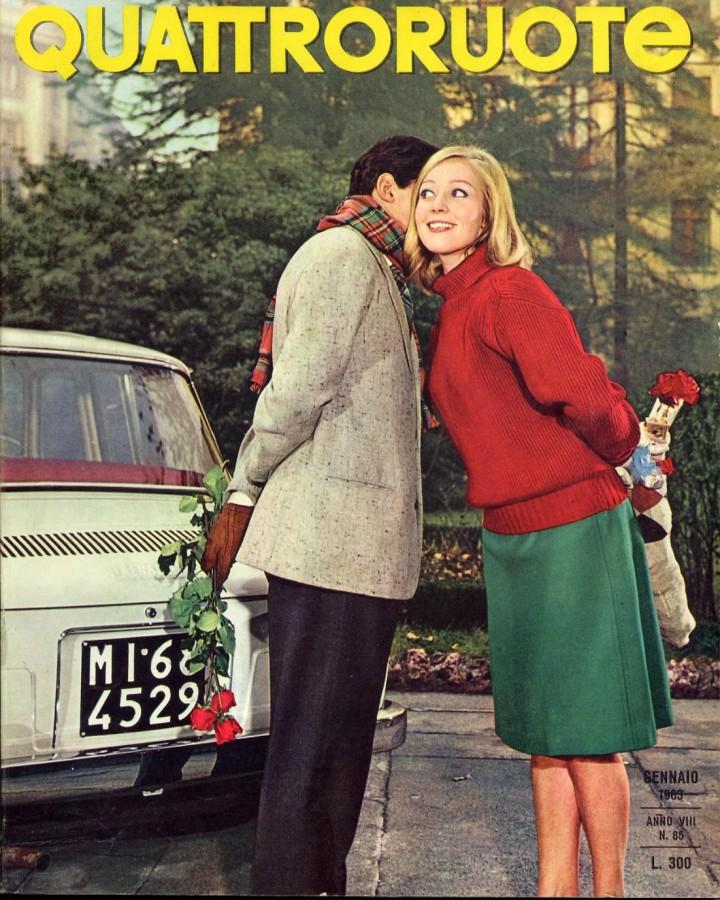 Quattroruote gennaio 1963 copertina