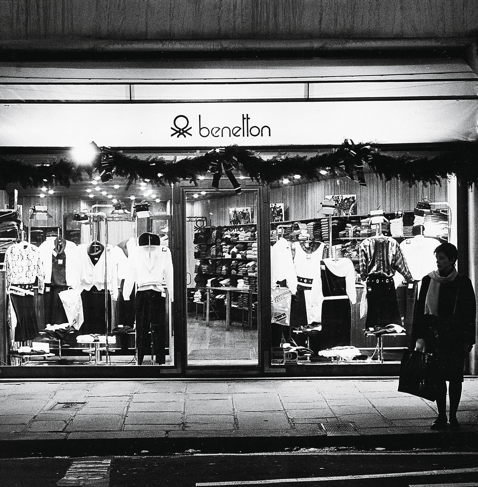 negozio benetton anni 70
