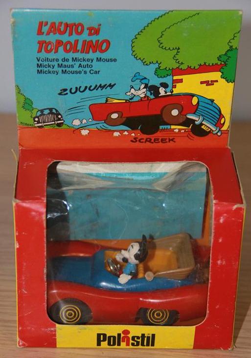 disney auto topolino giocattolo vintage anni 60