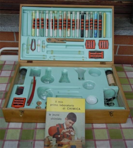 pan ludo chimica scatola piccolo chimico vintage