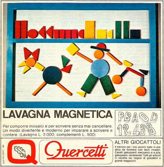 quercetti lavagna magnetica 1968 giocattoli vintage