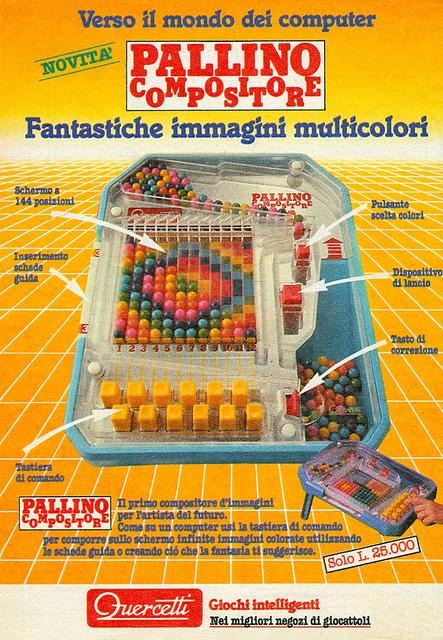 quercetti pallino anni 80 e 90 giocattoli vintage confezione