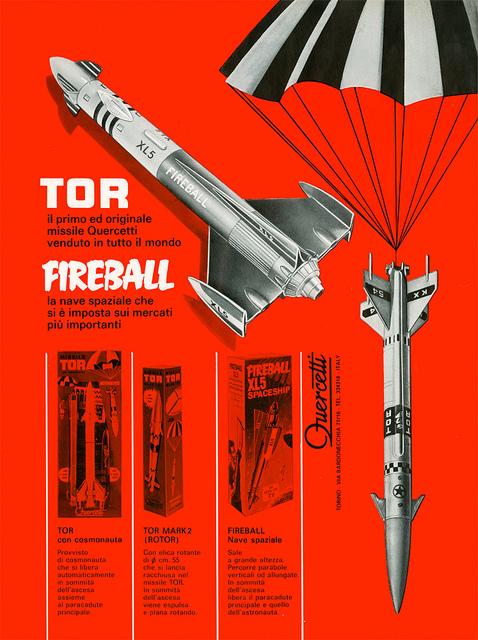 quercetti tor fireball 1969