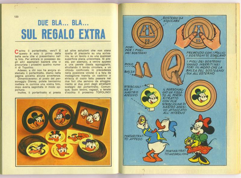 TOPOLINO REGALO e gadgets 1979 istruzioni uso