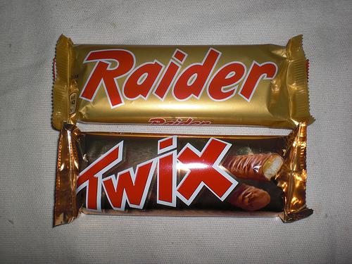 twix raider mars anni 70 confezione vintage