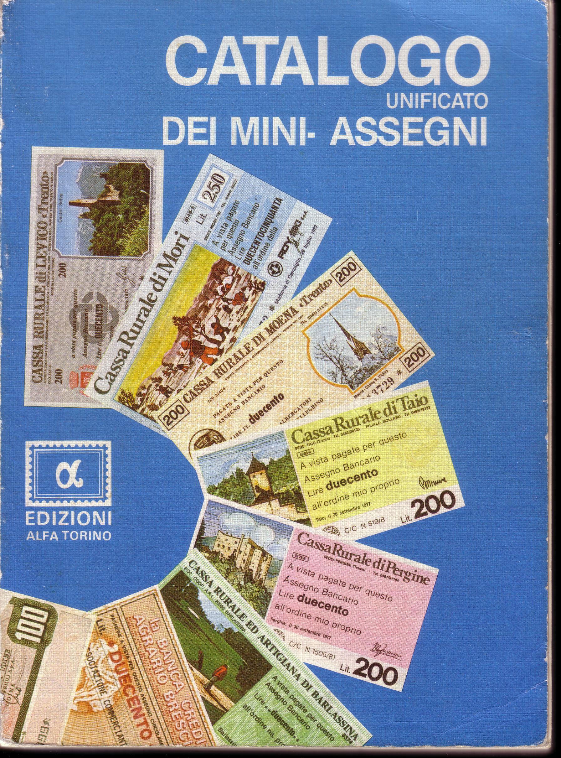 Catalogo di mini assegni per collezionisti