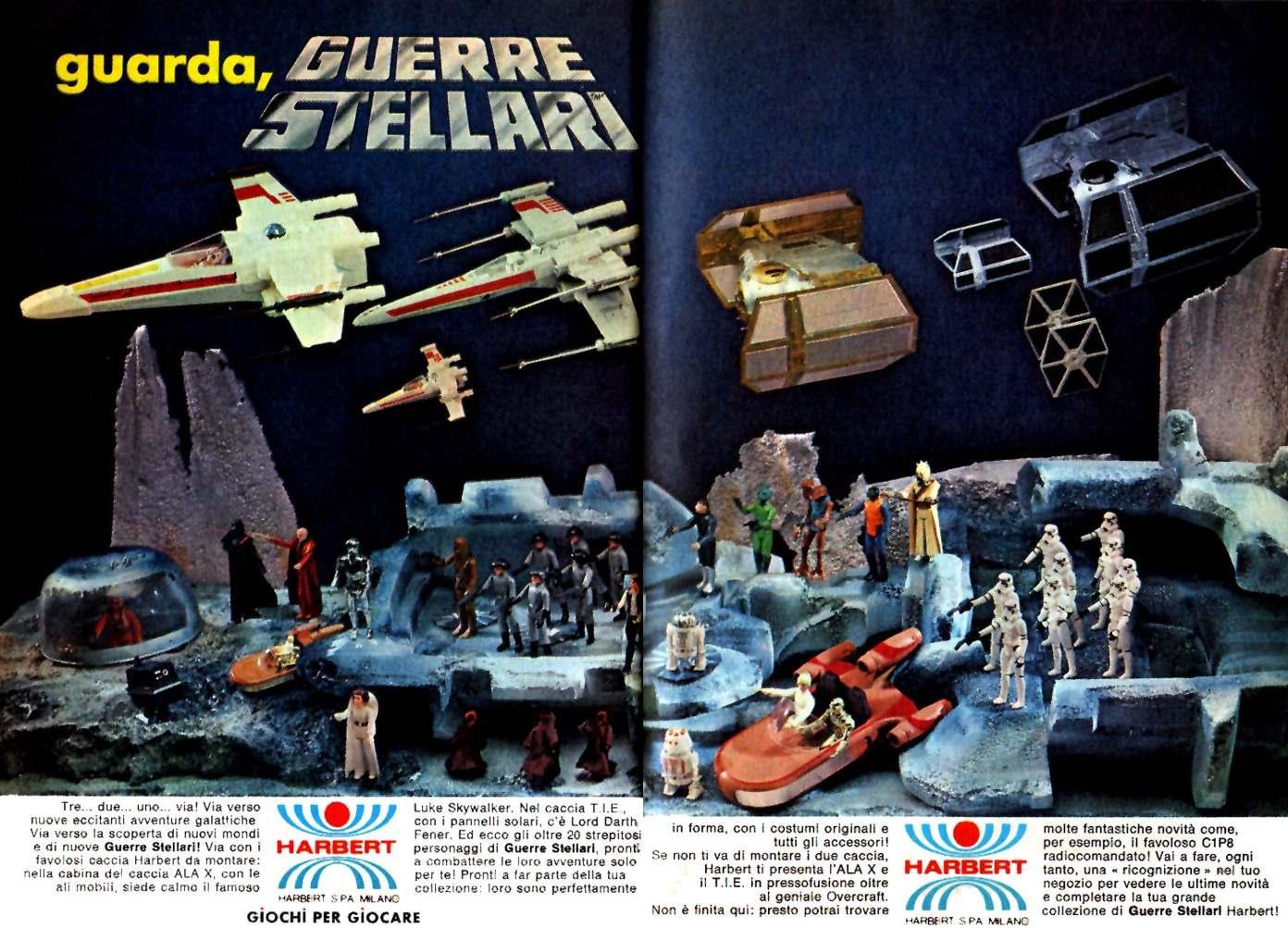 Harbert Guerre Stellari Pubblicità Topolino 1225 anno 1979