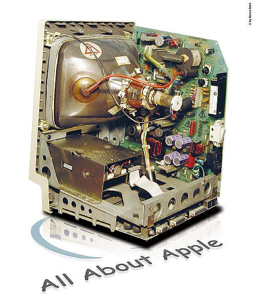 L'interno di un Macintosh 128k