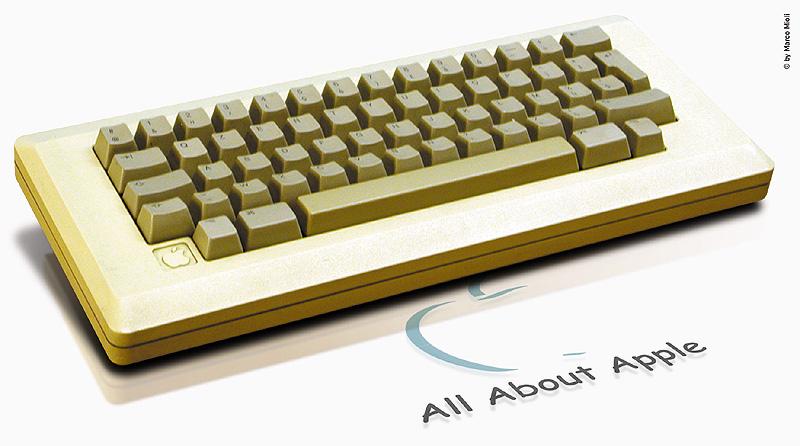 Tastiera di un Macintosh 128k