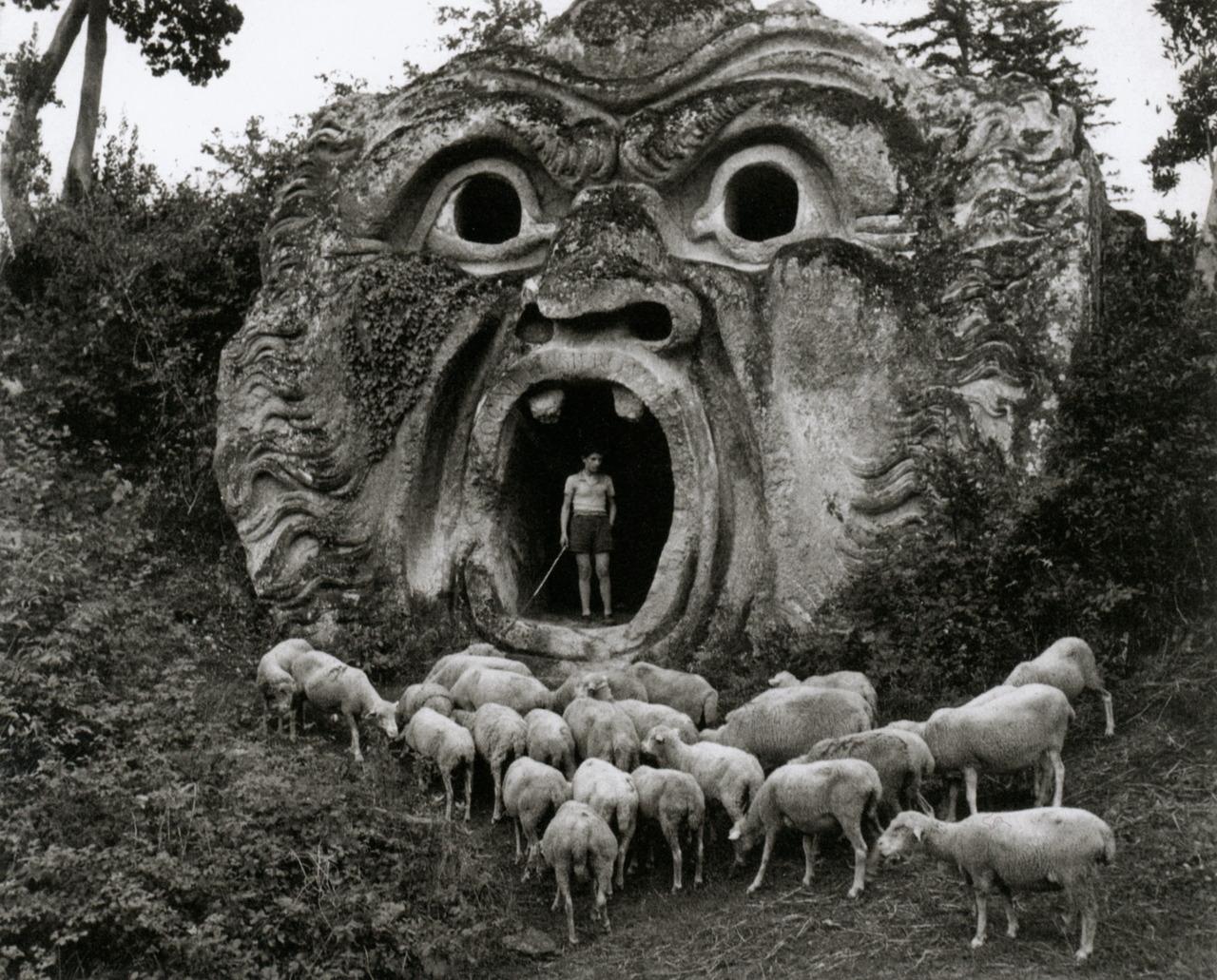 Bomarzo - Particolare parco dei Mostri prima del restauro