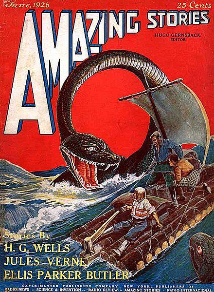Copertina Amazing Stories del Giugno 1926