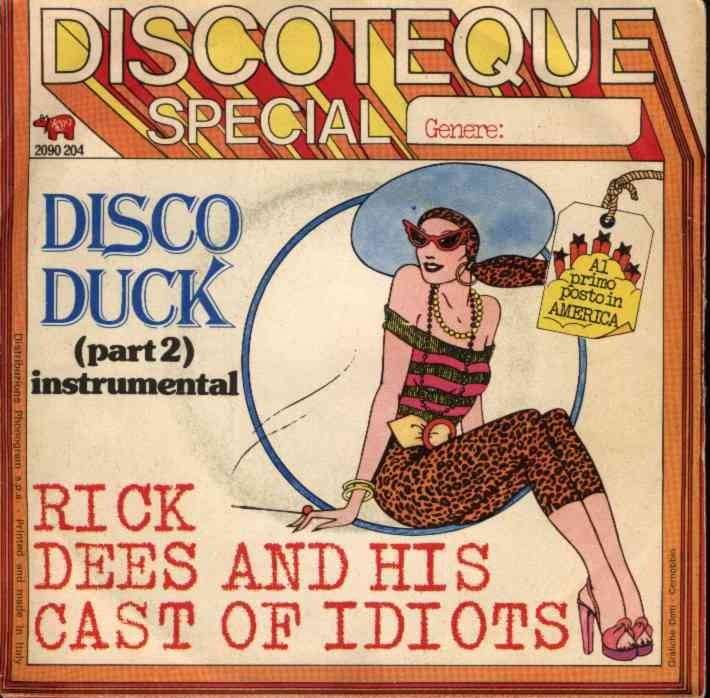 disco duck rick dees copertina