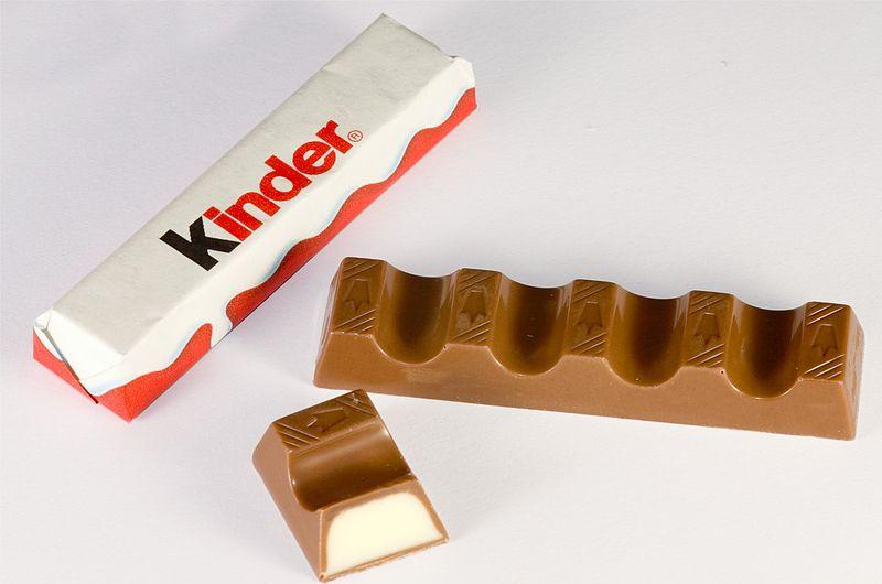Barretta Kinder cioccolato