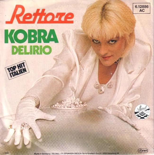 kobra donatella rettore 1980 copertina disco vinile 45 giri