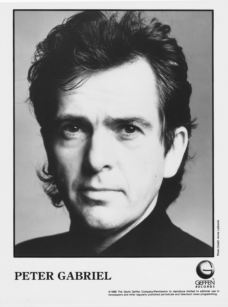 Peter Gabriel nel 1989 - Passion Press Photo -