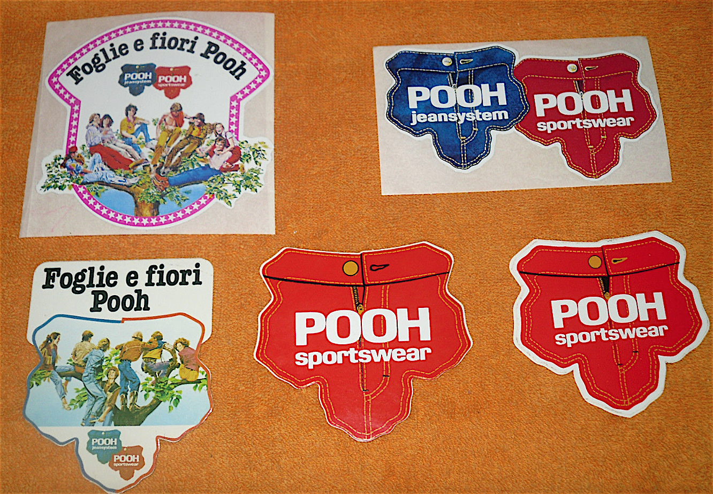 Pooh - Adesivo anni '70 raffigurante il simbolo della Casa
