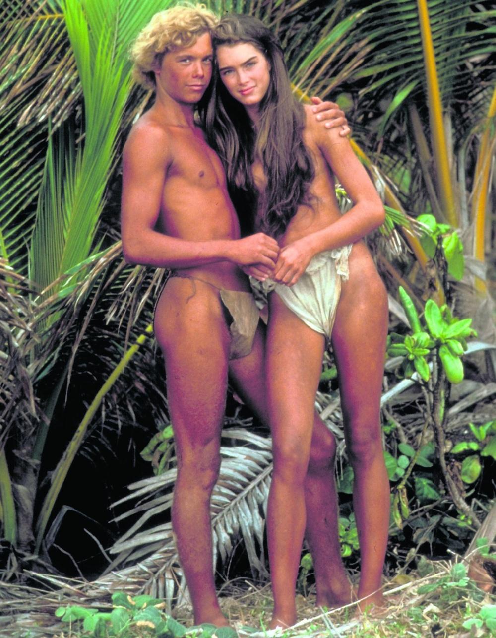 "Brooke Shields con Christopher Atkins in ""Laguna Blu"" 1980"