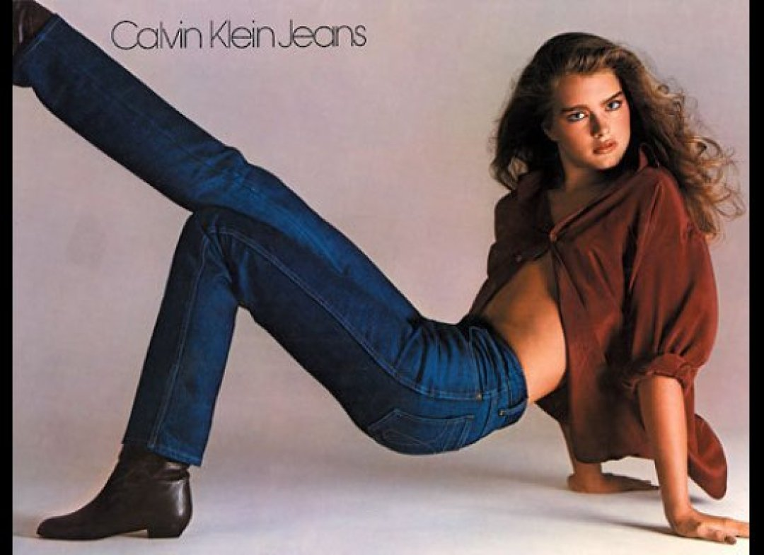 Brooke Shields testimonial della Calvin Kleine