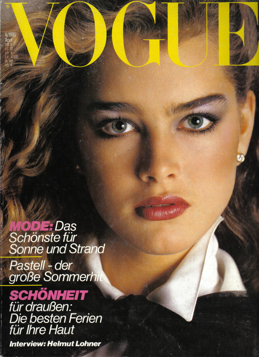 Brooke Shields nella copertina di Vougue