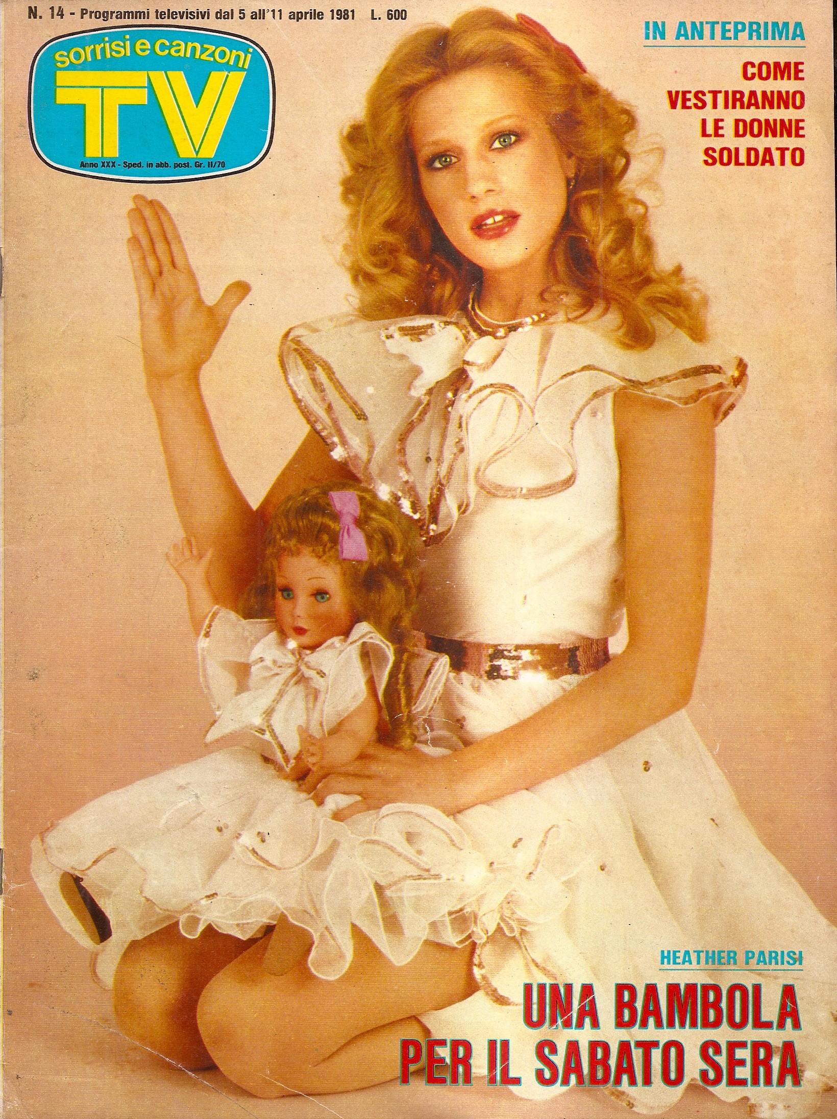 Sorrisi e Canzoni TV - Copertina con Heather Parisi - 1981 -