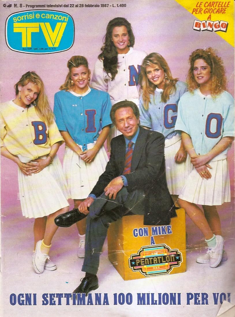 Sorrisi e Canzoni TV - Copertina con Mike Bongiorno - 1987 -