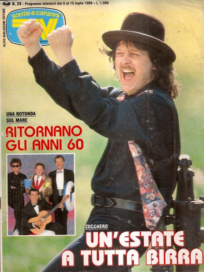 Sorrisi e Canzoni TV - Copertina con Zucchero - 1989 -
