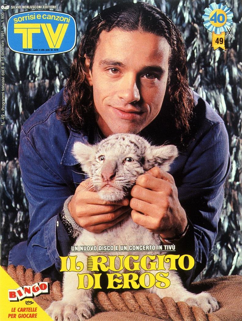 Sorrisi e Canzoni TV - Copertina dedicata a Eros Ramazzotti - 1990 -